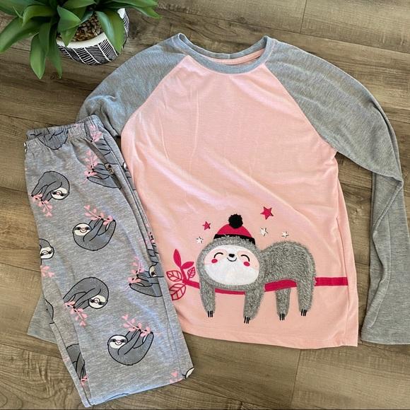 Wonder Nation Pajama set Sloth XL( 14-16)